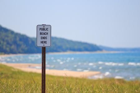 Public Beach Ends Banco de Imagens