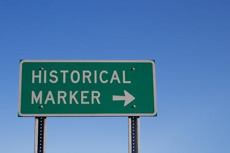 Historical Marker Road Sign Banco de Imagens