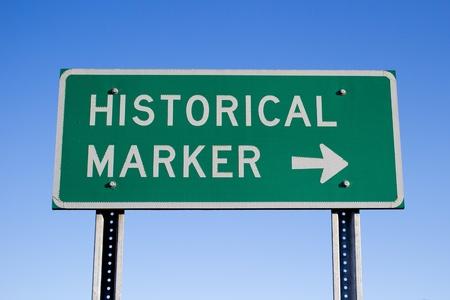 Historical Marker Road Sign Фото со стока