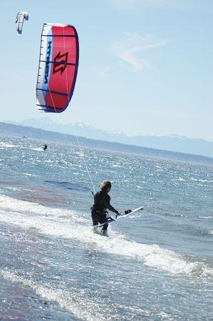 kite surfing 版權商用圖片