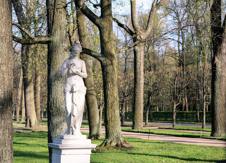 peterhof: the statue in the lower Park of Peterhof
