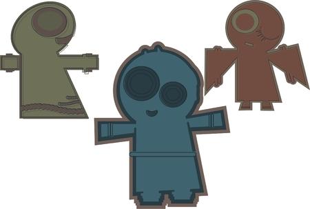 Cartoon alien Stock Vector - 9010876