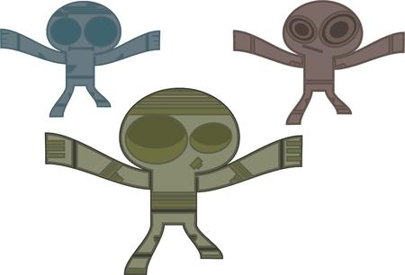 cartoon alien: Cartoon alien Illustration