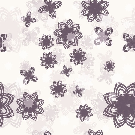 Seamless vector background with flower Stock Vector - 12082119