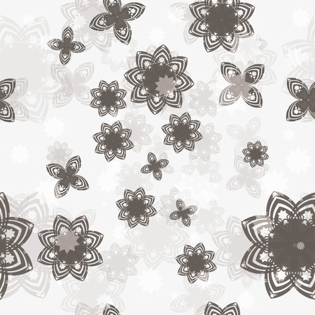 Seamless vector background with flower Illustration