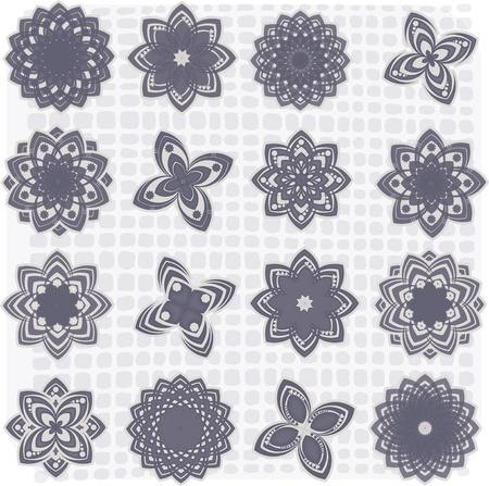 ringelblumen: Sammlung von 16 Blumen Skizzen