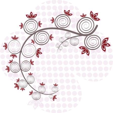genealogical: �rbol rojo Vectores
