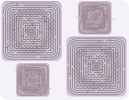 Vector illustration of vector maze