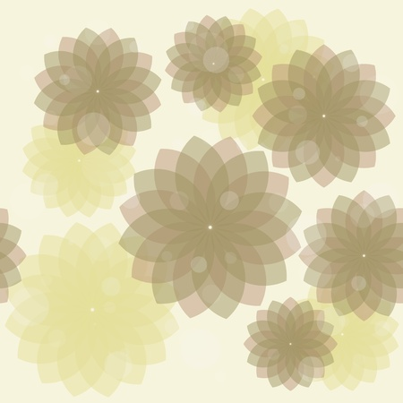Seamless vector background with flower Vector