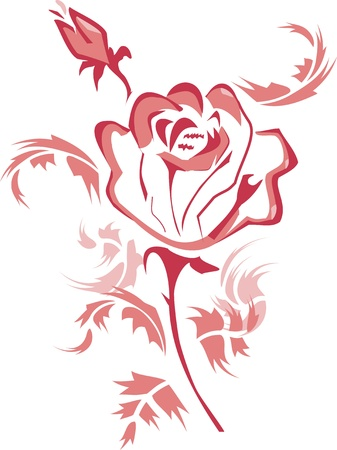 pink rose Stock Vector - 12808558