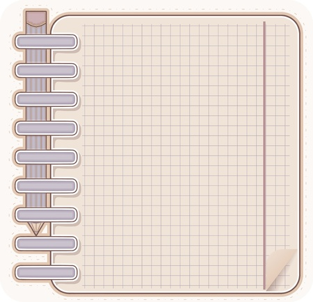 Sketch book and  pencil Stock Vector - 13002757
