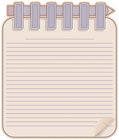 Sketch book and  pencil Stock Vector - 13002762