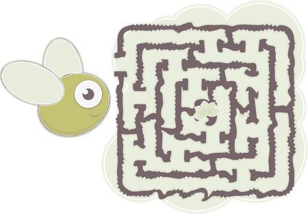 maze s bee Vector