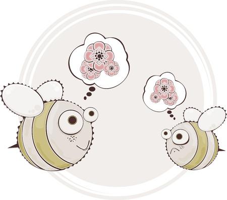 Cute honeybee Vector