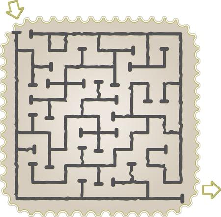 Abstract maze Stock Vector - 15056512
