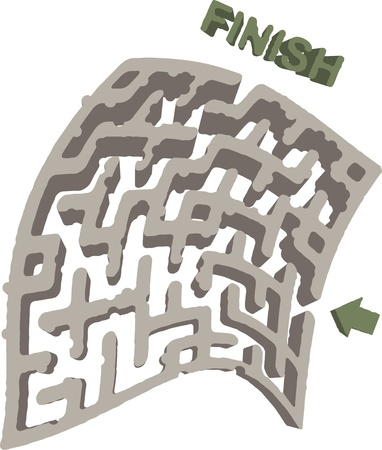 Abstract maze Vector