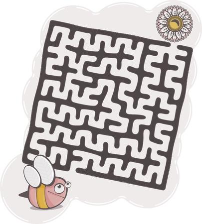 maze s bee Illustration