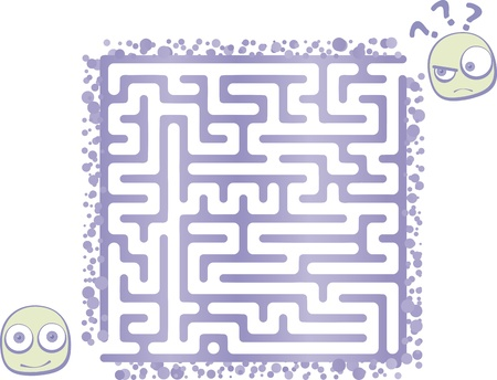 Kid Maze Stock Vector - 17174692