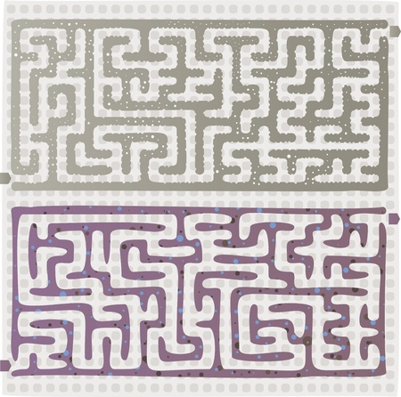 Set of Maze Stock Vector - 17211824