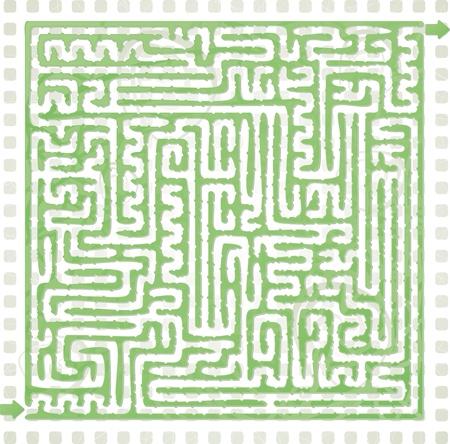 Abstract Maze Illustration