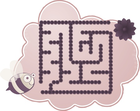 Maze s Bee Stock Vector - 17299877