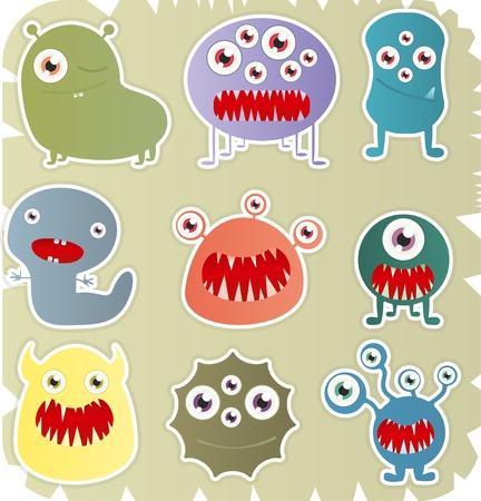 Set Of Monster Stock Vector - 17597351
