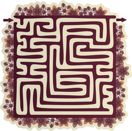 Abstract Maze Stock Vector - 17597347