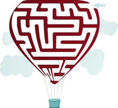 Balloon Maze Stock Vector - 17698109