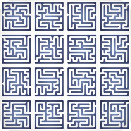 This Is Illustration Set Of Maze Illustration