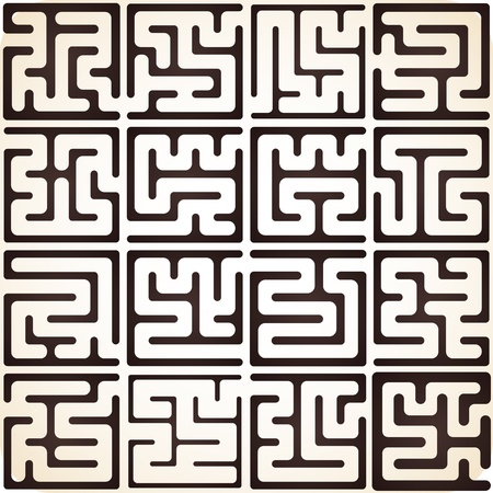 This Is Illustration Set Of Maze Vector