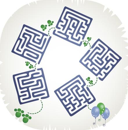 Step maze Stock Vector - 18315143