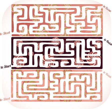 Set of lolipop maze Vector