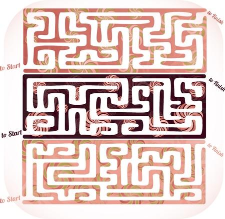 Set of lolipop maze Illustration