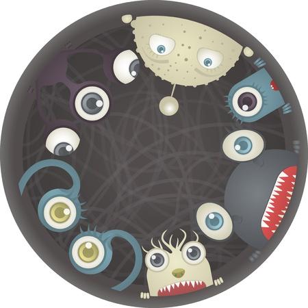 Set of Monsters Stock Vector - 19157615