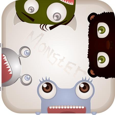 Set of Monsters Stock Vector - 19219564