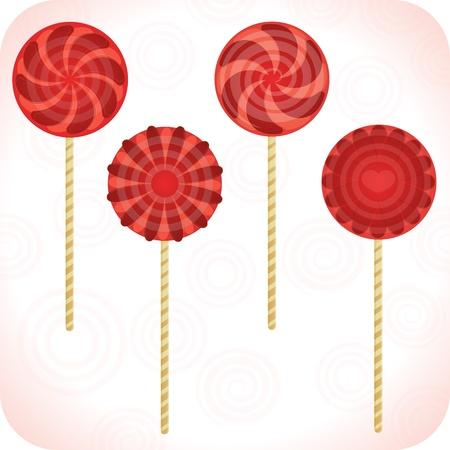 Set Of Lollipops  Illustration