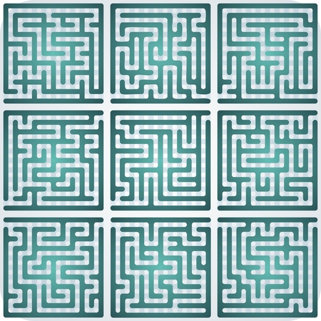 Set of Maze for kids