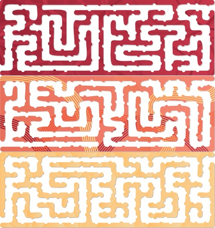 This Is Illustration Of Set Of Maze Kids With Answer Vector