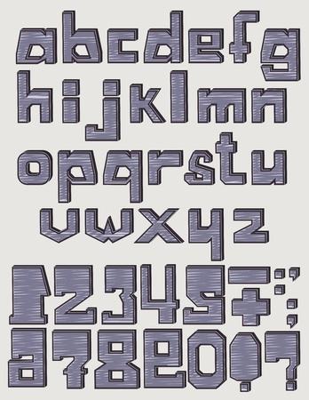 Font 3d Scribble
