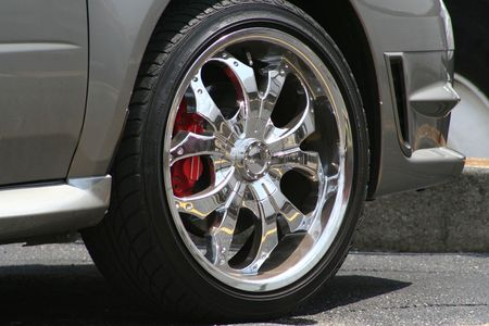 race wheel and tire Stock Photo