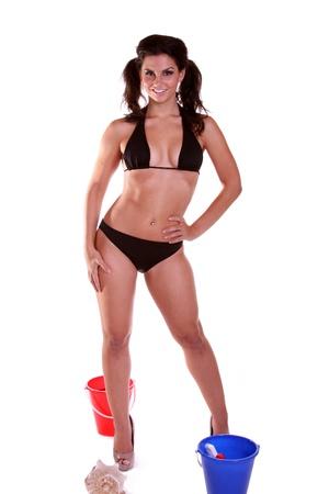 beach babe: giovane beach babe in bikini