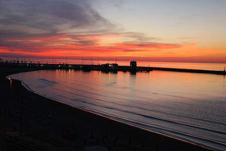 rodi: sunset Rodi Garganico Stock Photo