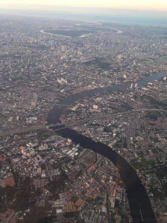 birdeye: Bangkok city Thailand from top
