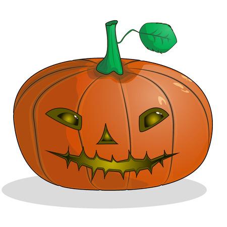 Stock vector illustration horrible cartoon Jack-o-lantern