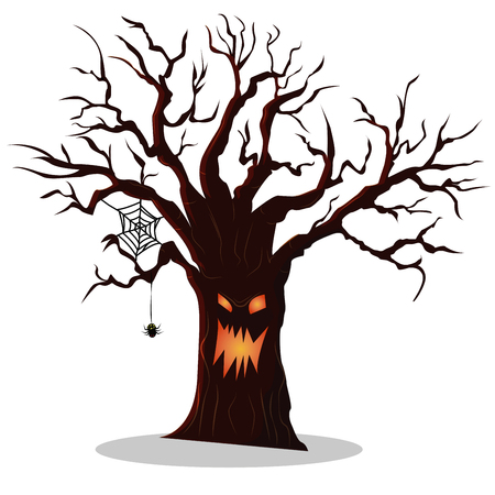 Scary tree icon. Isometric of scary tree vector icon for web design isolated on white background Illustration