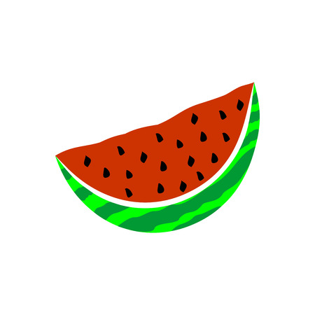 Watermelon Icon in trendy flat style isolated on white background. Summer symbol for web site design, logo, app, UI Stockfoto