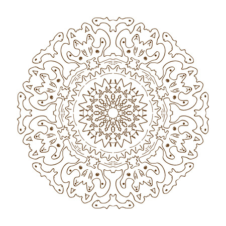 Mandala unusual pattern, ornament invented stylized for the new year, the summer period, for different textures