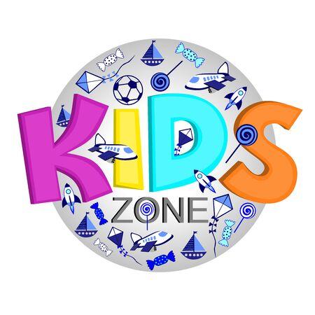 Logo organizacji rozwoju dzieci, strefa rozrywki dla dzieci Logo