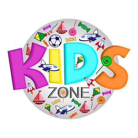 Logo for the organization of the development of children, a zone for the entertainment of children Stock Illustratie