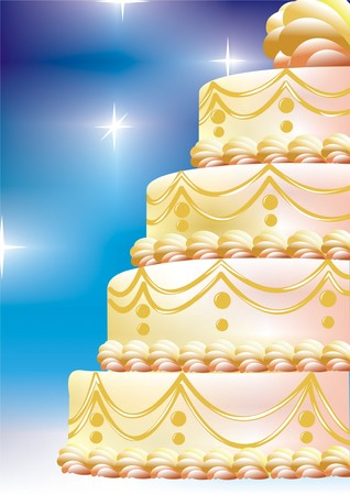celebratory cake Illustration